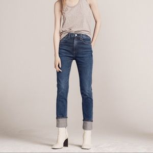 RAG AND BONE Lou High Waisted Jeans in Northwood